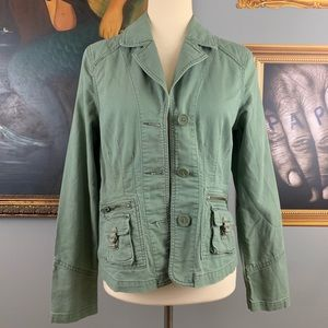 Old Navy Green Utility Cotton Jacket ECU